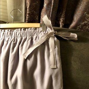 Loft Grey Velvet-Feel Skirt